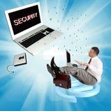 Tecnologías de la conexión a internet de la seguridad Imagen de archivo libre de regalías