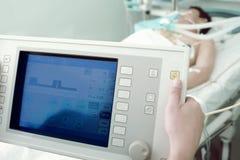 Tecnologías de la innovación en medicina en el hospital Imagen de archivo