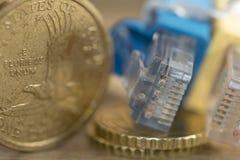 Tecnologías de las finanzas y de las noticias Foto de archivo libre de regalías