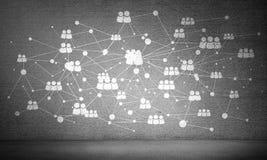 Tecnologías inalámbricas como medios de la comunicación empresarial Foto de archivo