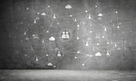 Tecnologías inalámbricas como medios de la comunicación empresarial Imagen de archivo