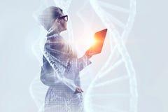 Tecnologías innovadoras en ciencia y medicina Técnicas mixtas Imagen de archivo