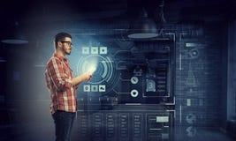 Tecnologías para la conexión y la comunicación Imagen de archivo libre de regalías