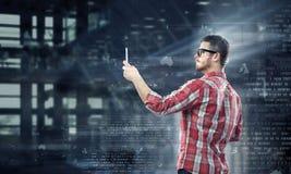 Tecnologías para la conexión y la comunicación Técnicas mixtas Imágenes de archivo libres de regalías