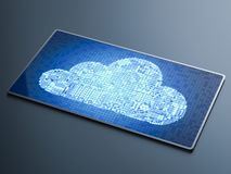 Tecnolog?a de ordenadores de la nube ilustración del vector