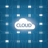 Tecnolog?a de ordenadores de la nube stock de ilustración