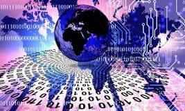 Tecnolog?a de red del mundo Comunicaci?n de la tecnolog?a libre illustration
