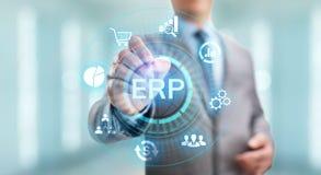 Tecnolog?a del negocio del software del sistema de planeamiento de los recursos de la empresa del ERP fotos de archivo