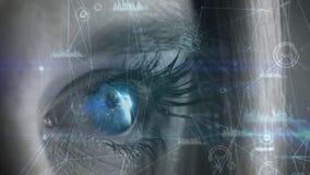 Tecnolog?a del ojo stock de ilustración