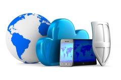 Tecnología de la nube en el fondo blanco Imágenes de archivo libres de regalías