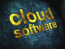Tecnología de ordenadores de la nube, concepto del establecimiento de una red: Fotos de archivo libres de regalías