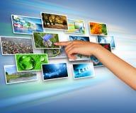 Tecnología de producción de la televisión y del Internet Foto de archivo