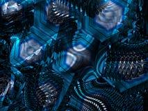 Tecnología extranjera que brilla intensamente azul Fotos de archivo