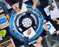 Tecnología Hud Global Web Media Concept Fotografía de archivo