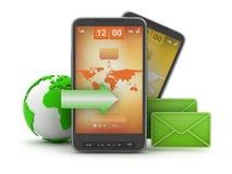 Tecnología móvil - Internet Imagen de archivo libre de regalías
