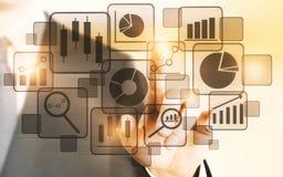 Tecnologia, écran sensível e conceito do futuro Imagem de Stock
