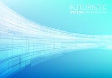 Tecnologia abstrata azul Fotos de Stock