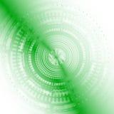 A tecnologia abstrata do fundo circunda claro - vetor da cor verde Foto de Stock Royalty Free