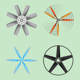 Tecnologia ajustada da rotação do refrigerador do ventilador do ícone do ar do equipamento do ventilador do vento da hélice do fã Fotos de Stock Royalty Free