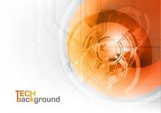 Tecnologia arancione illustrazione vettoriale