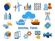 Tecnologia assistente do tween digital do vetor de Digitas ilustração stock