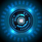 Tecnologia astratta blu del fondo Immagine Stock Libera da Diritti