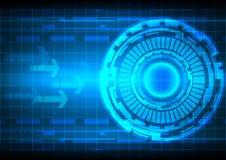 Tecnologia astratta del blu del fondo Immagine Stock Libera da Diritti