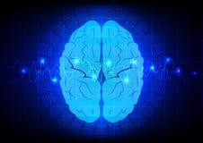 Tecnologia astratta del cervello Immagini Stock Libere da Diritti