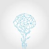 Tecnologia astratta del cervello di stile e del circuito Fotografia Stock