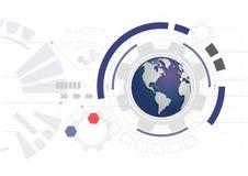 Tecnologia astratta del mondo Immagini Stock