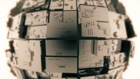 tecnologia astratta della fantascienza 4k, fondo di cristallo di vetro trasparente della matrice royalty illustrazione gratis