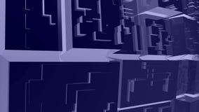 tecnologia astratta della fantascienza 4k, fondo di cristallo di vetro trasparente della matrice illustrazione di stock