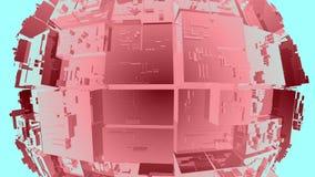 tecnologia astratta della fantascienza 4k, fondo di cristallo di vetro trasparente della matrice illustrazione vettoriale