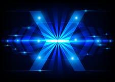 Tecnologia astratta della freccia sul concetto leggero blu Fotografie Stock