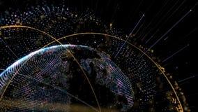 Tecnologia astratta della terra archivi video