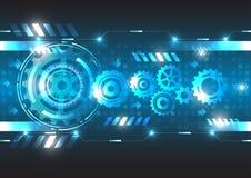 Tecnologia astratta di futuro di ingegneria di vettore Fotografia Stock