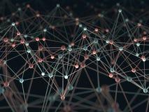 Tecnologia astratta di scienza del fondo Immagine Stock