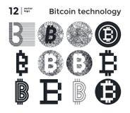 Tecnologia astratta stabilita del bitcoin di vettore Immagine Stock