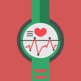 Tecnologia astuta dell'orologio con forma fisica di sport Immagini Stock Libere da Diritti