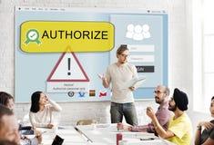 A tecnologia autoriza o conceito da reunião da conferência da autorização fotos de stock royalty free
