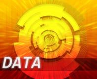 Tecnologia a banda larga di dati del Internet royalty illustrazione gratis