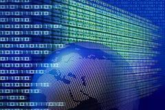 Tecnologia binaria globale illustrazione vettoriale