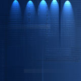 Tecnologia blu Fotografia Stock Libera da Diritti