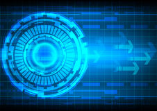 Tecnologia blu della freccia del cerchio del fondo astratto Immagine Stock Libera da Diritti