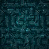 Tecnologia blu scuro brillante futuristica Backgorund Fotografia Stock Libera da Diritti
