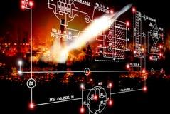 Tecnologia cósmica Imagem de Stock