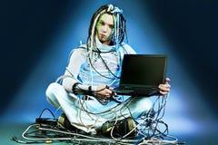 Tecnologia cósmica Imagens de Stock