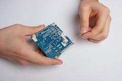 Tecnologia, ciao-tecnologia, computer, attrezzatura Fotografie Stock