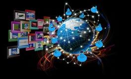 Tecnologia compiting dell'innovazione moderna Immagine Stock Libera da Diritti
