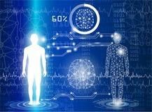 Tecnologia con scienza in futuro illustrazione vettoriale